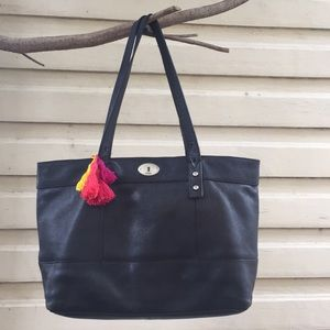 Vintage leather Fossil Tote